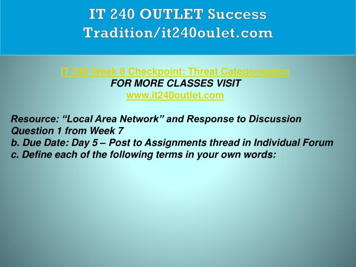 IT 240 OUTLET Success Tradition/it240oulet.com
