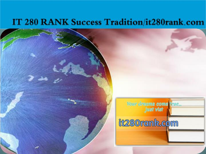 It 280 rank success tradition it280rank com