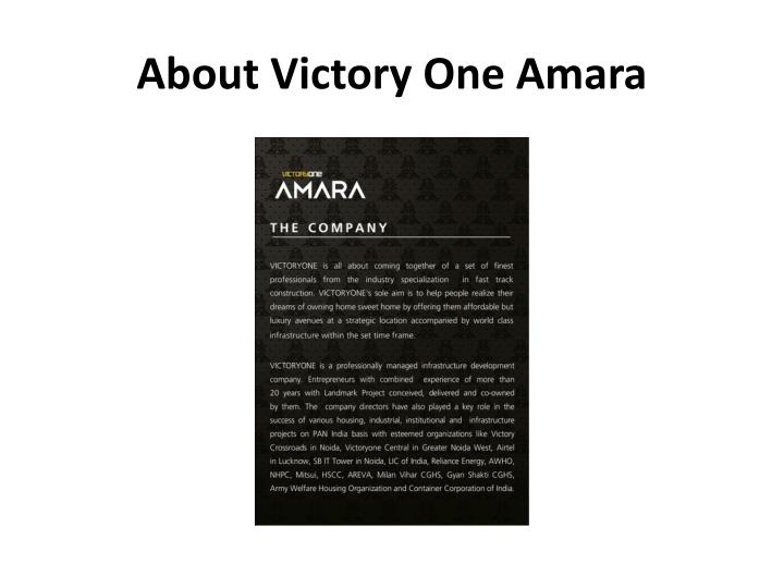 About Victory One Amara