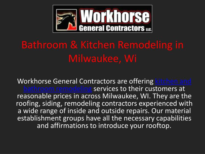 Bathroom kitchen remodeling in milwaukee wi