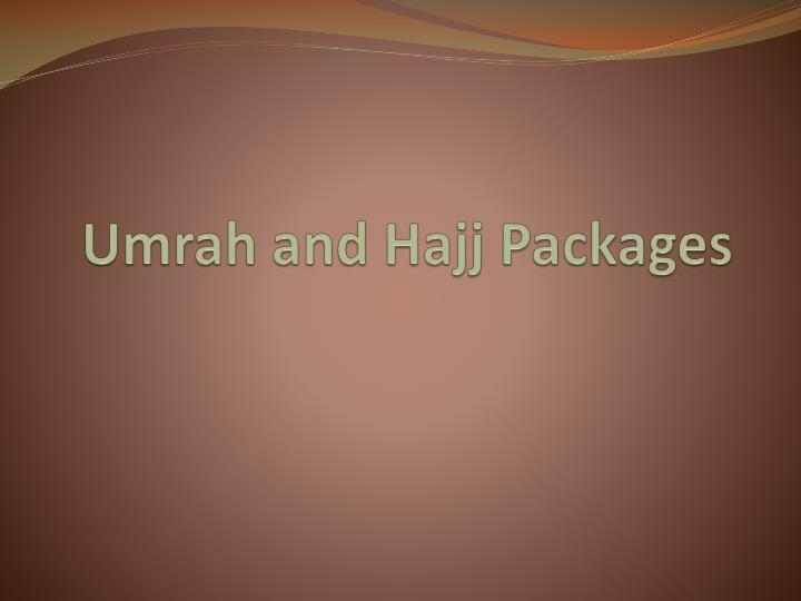 Umrah and hajj packages