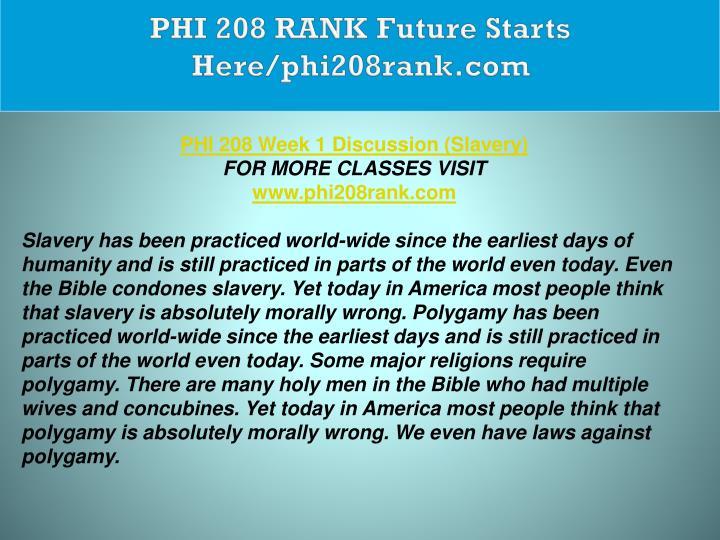 PHI 208 RANK Future Starts Here/phi208rank.com