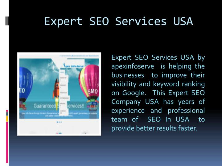 Expert seo services usa