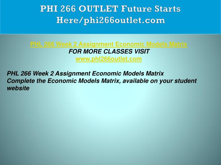 PHI 266 OUTLET Future Starts Here/phi266outlet.com