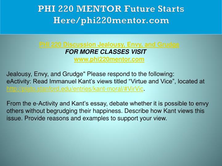 PHI 220 MENTOR Future Starts Here/phi220mentor.com