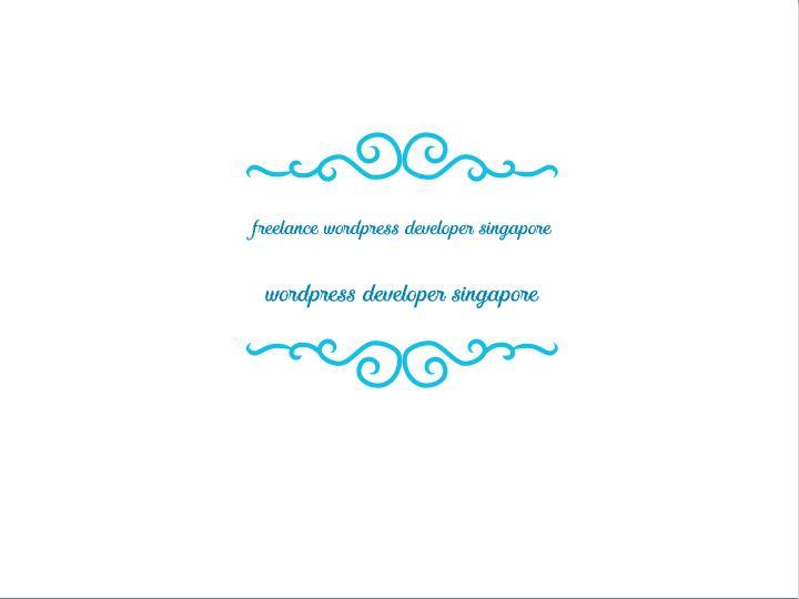 freelance wordpress developer singapore