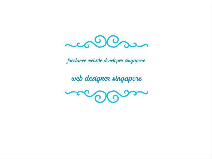 freelance website developer singapore