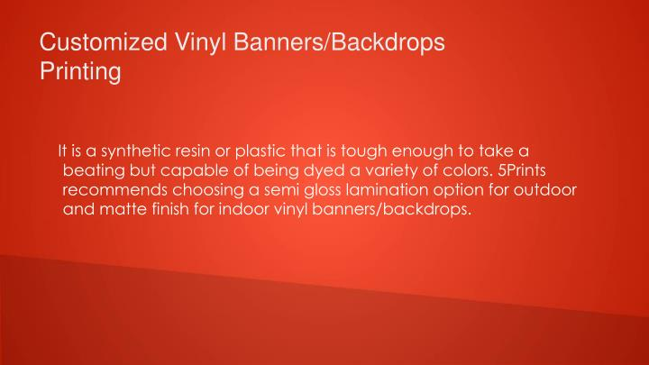 Customized Vinyl Banners/Backdrops Printing