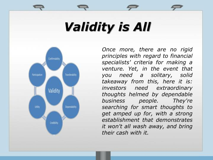 Validity is All