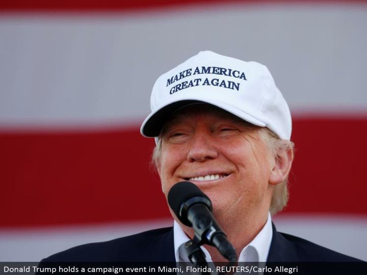 Donald Trump holds a battle occasion in Miami, Florida. REUTERS/Carlo Allegri