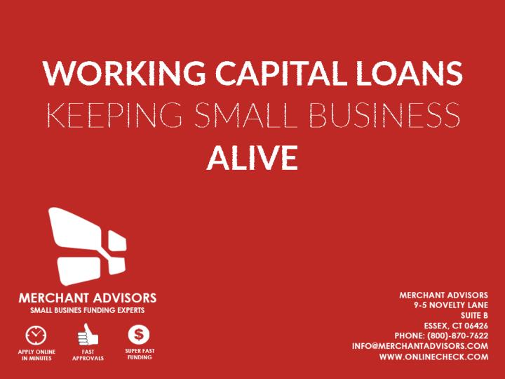 Working capital loans keeping small business alive 7434403