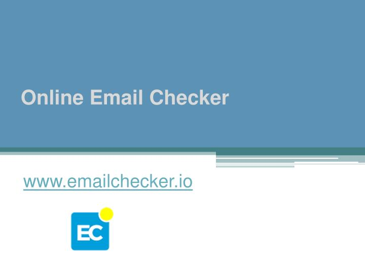 Online Email Checker