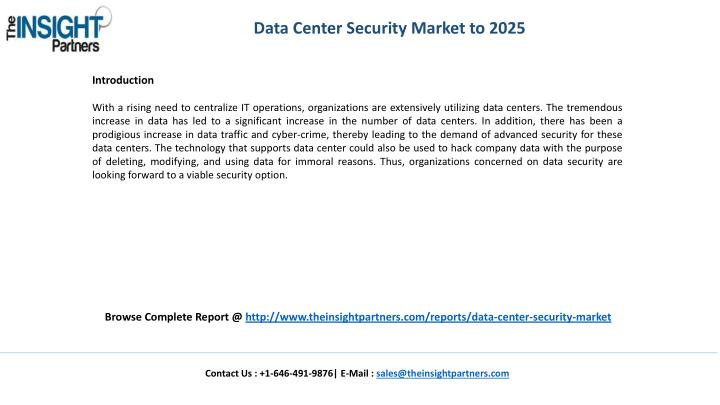 Data Center Security Market to 2025