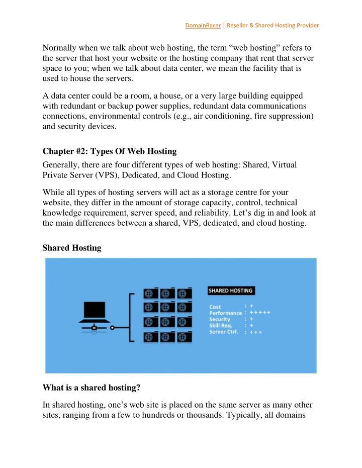 DomainRacer | Reseller & Shared Hosting Provider