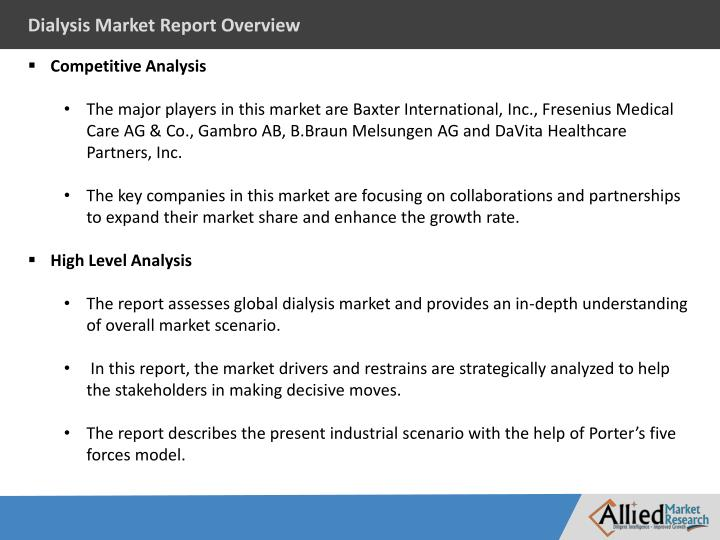 Dialysis Market Report Overview