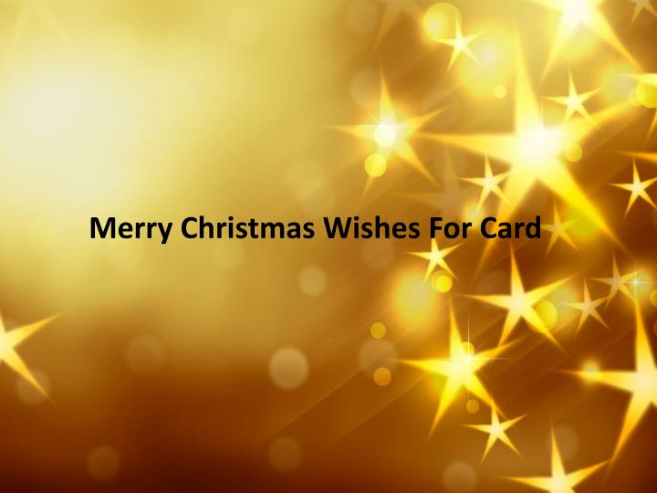 Merry Christmas Wishes For Card