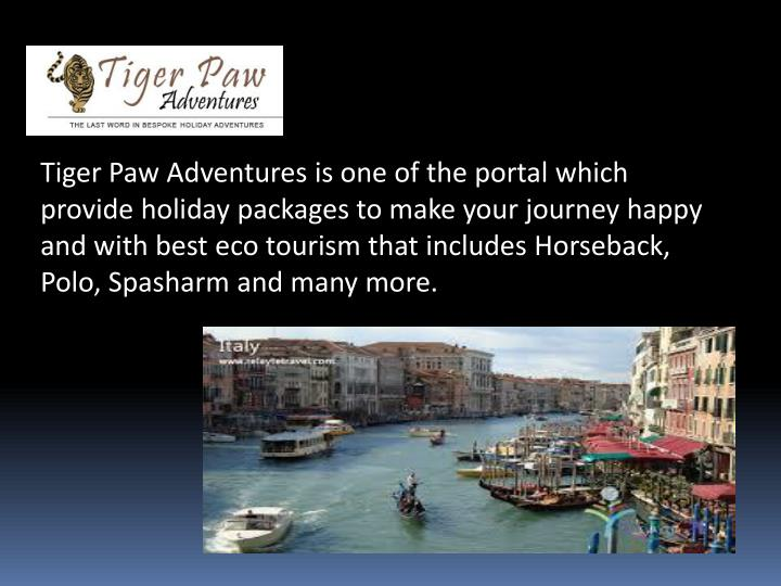 Tiger Paw Adventures is one of the portal which provide holiday packages to make your journey happy ...