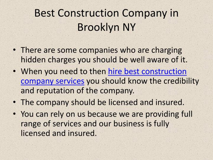 Best Construction Company in Brooklyn NY