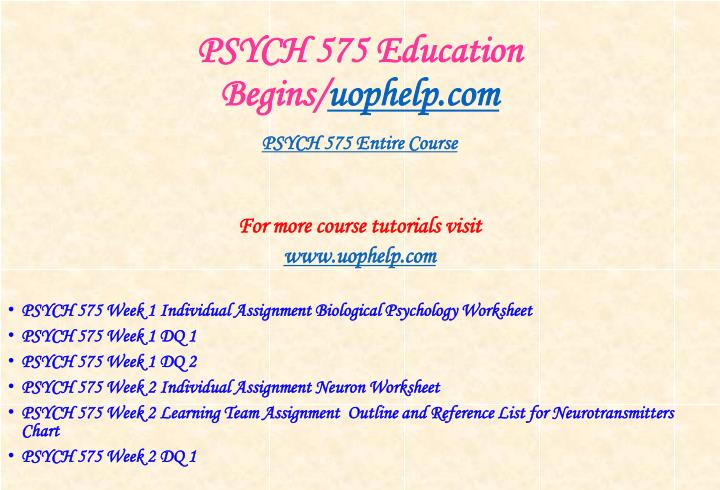 Psych 575 education begins uophelp com1