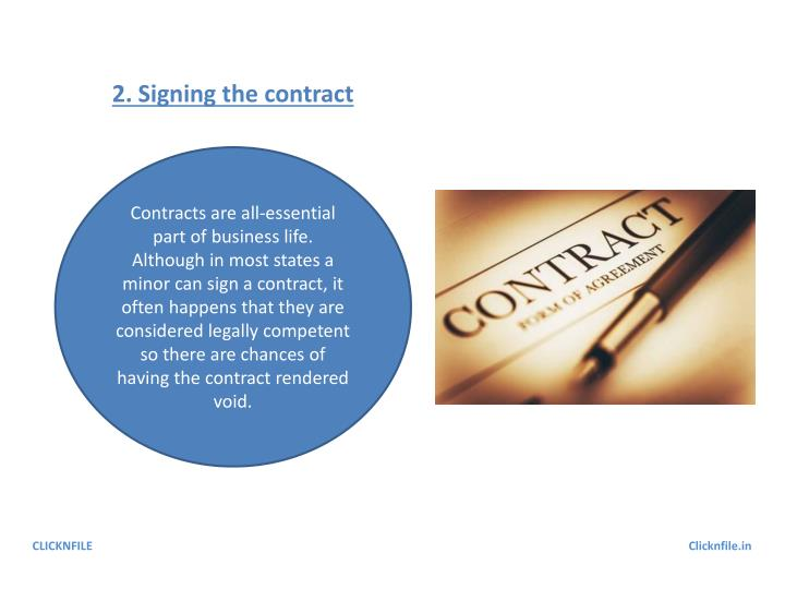 2. Signing the contract