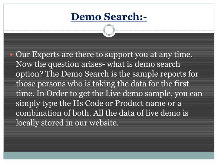 Demo Search:-