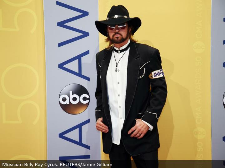 Musician Billy Ray Cyrus. REUTERS/Jamie Gilliam