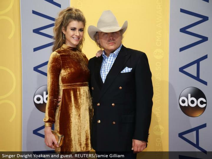 Singer Dwight Yoakam and visitor. REUTERS/Jamie Gilliam
