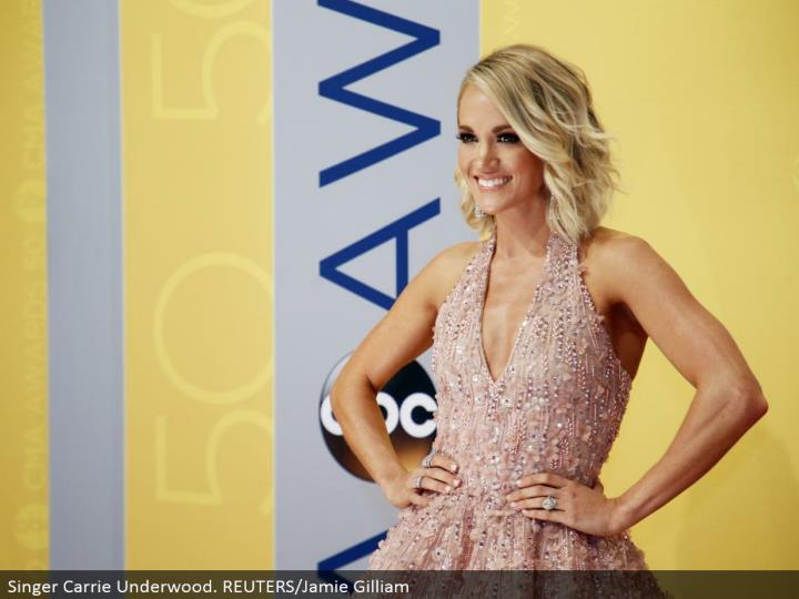 Singer Carrie Underwood. REUTERS/Jamie Gilliam