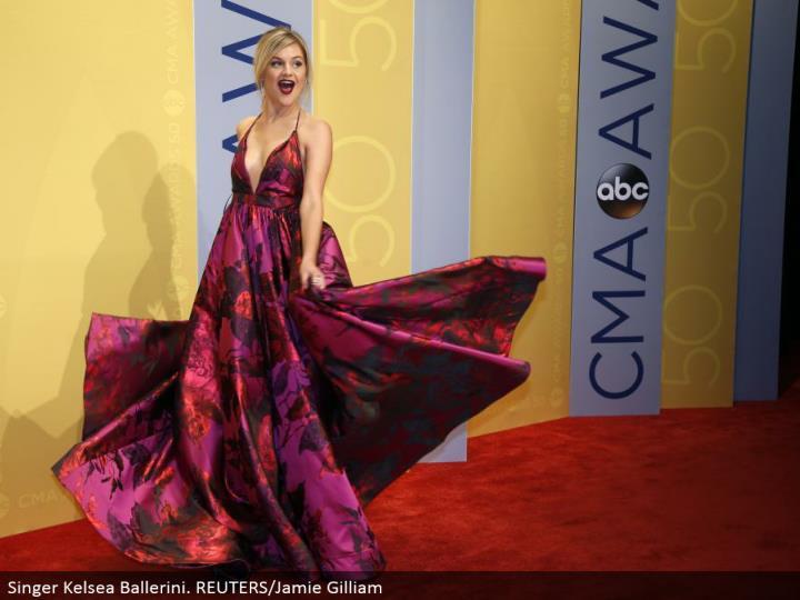 Singer Kelsea Ballerini. REUTERS/Jamie Gilliam