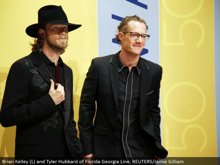 Brian Kelley (L) and Tyler Hubbard of Florida Georgia Line. REUTERS/Jamie Gilliam