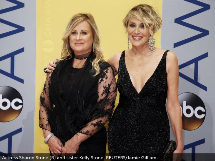 Actress Sharon Stone (R) and sister Kelly Stone. REUTERS/Jamie Gilliam