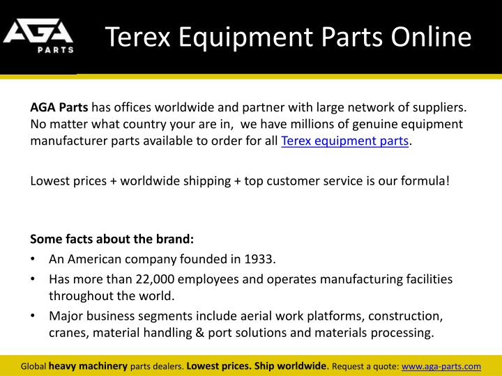 Terex equipment parts online