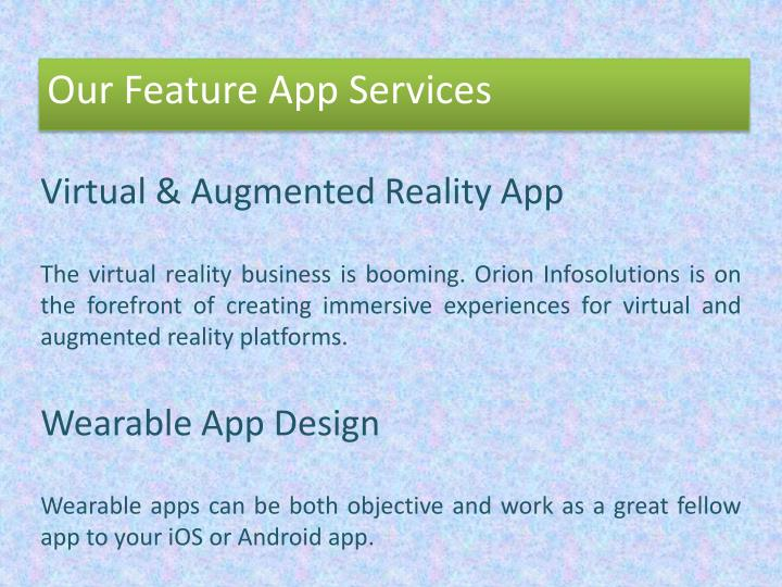 Virtual & Augmented Reality App