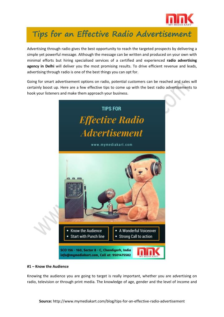 Tips for an Effective Radio Advertisement