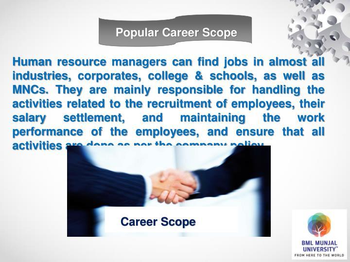 Popular Career Scope
