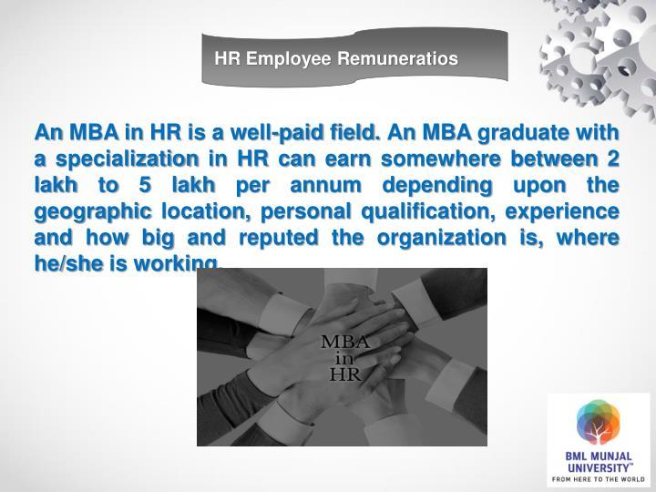 HR Employee Remuneratios