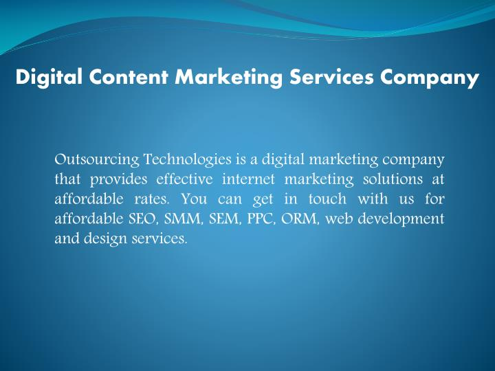 Digital Content Marketing Services Company