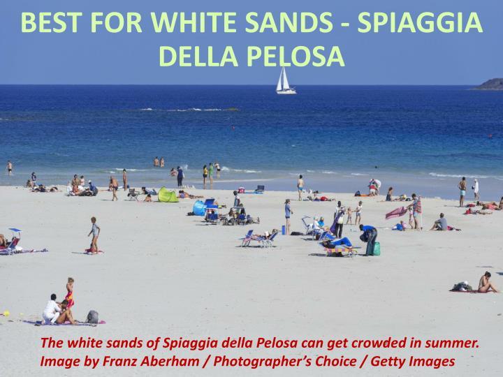 Best for white sands - Spiaggia della Pelosa