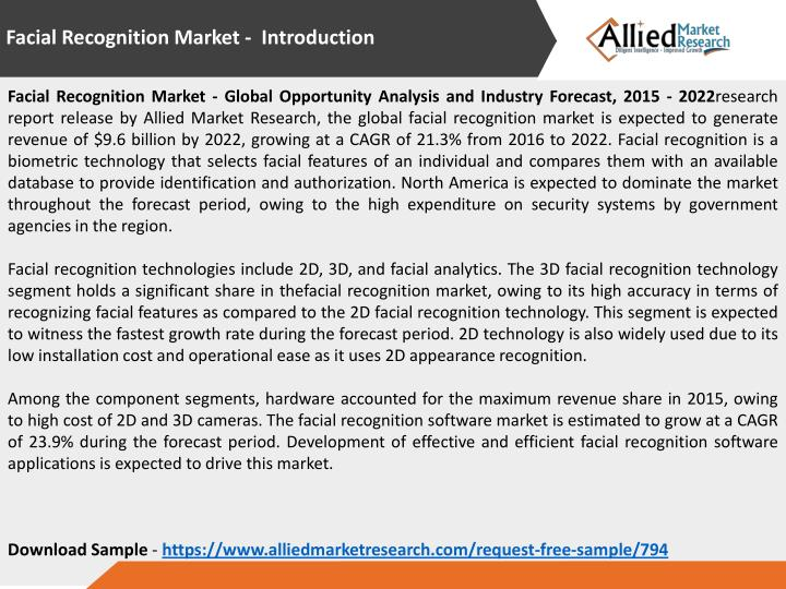 Facial Recognition Market - Introduction