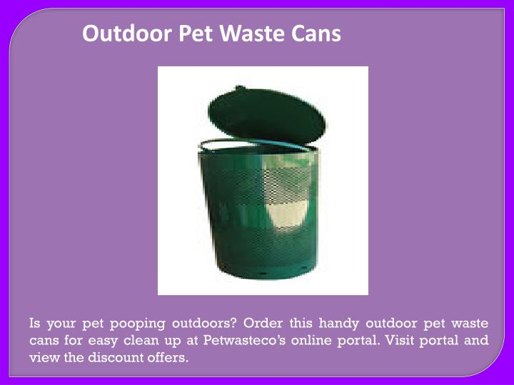Outdoor Pet Waste Cans