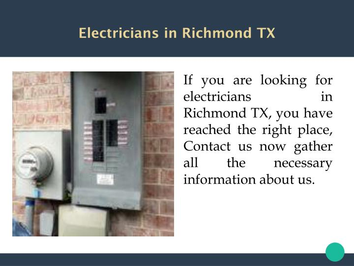 Electricians in Richmond TX
