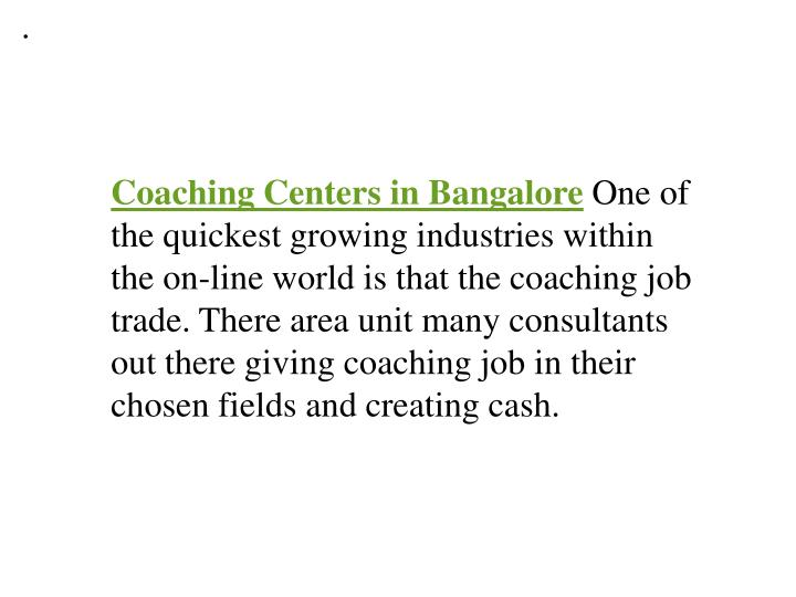 Coaching centers in bangalore 7434535