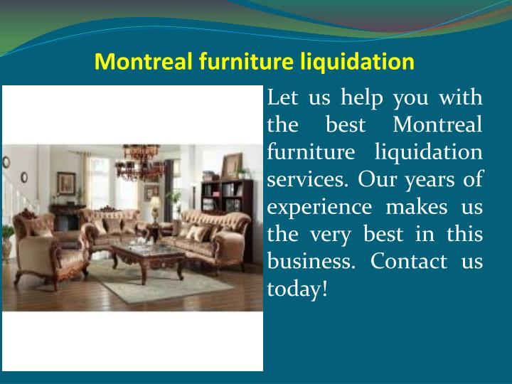 Montreal furniture liquidation