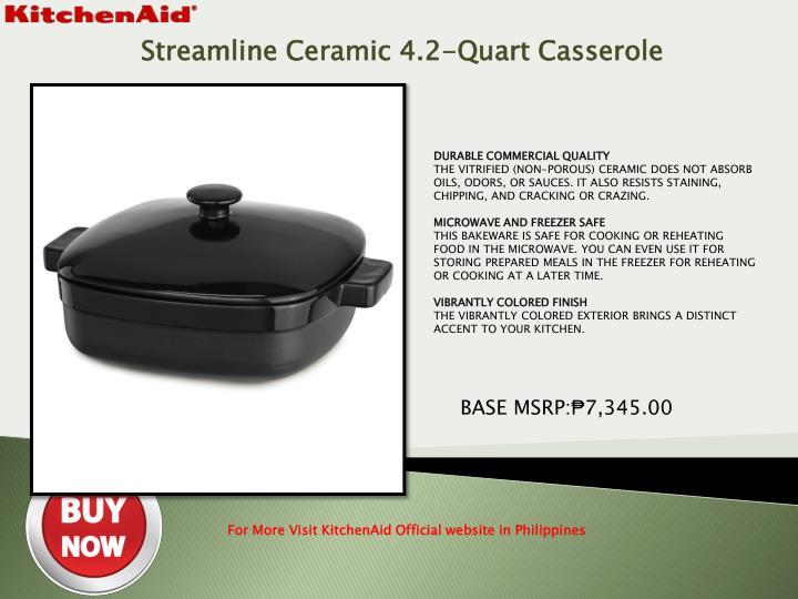 Streamline Ceramic 4.2-Quart Casserole