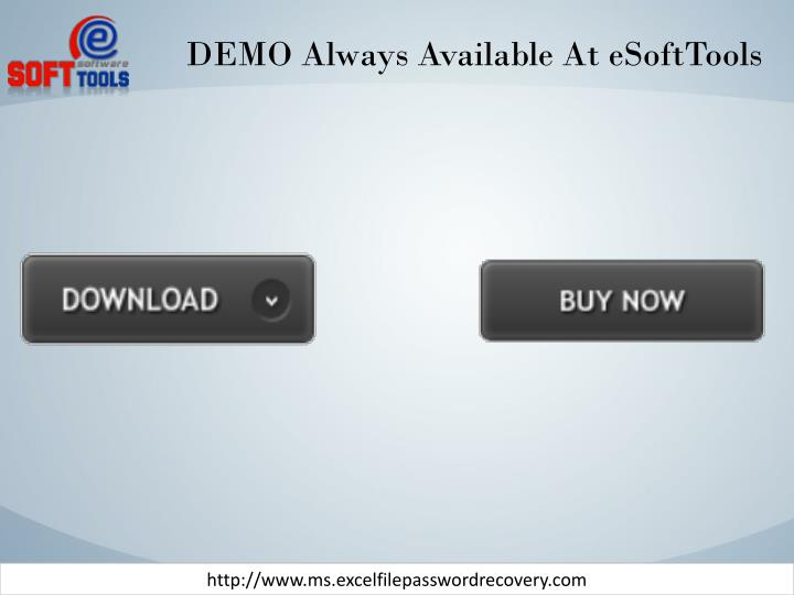 DEMO Always Available At eSoftTools