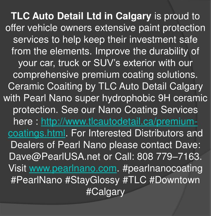 TLC Auto Detail Ltd in Calgary