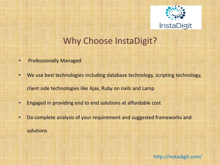 Why choose instadigit