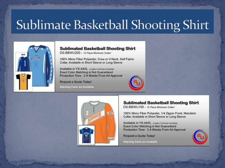 Sublimate Basketball Shooting Shirt