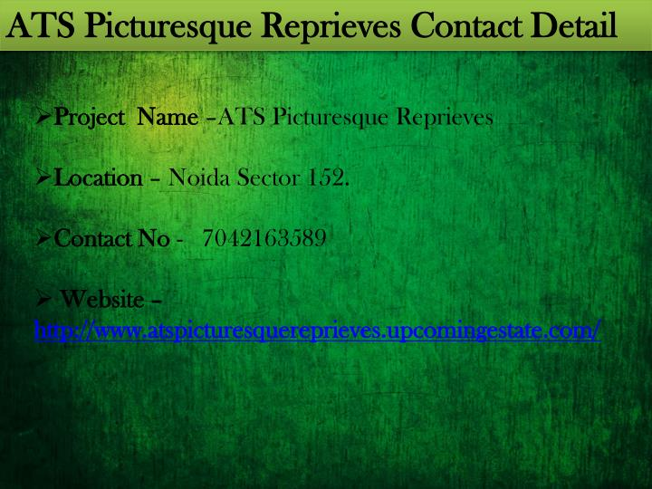 ATS Picturesque Reprieves Contact Detail