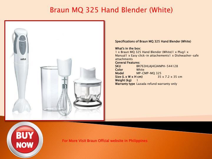 Braun MQ 325 Hand Blender (White)